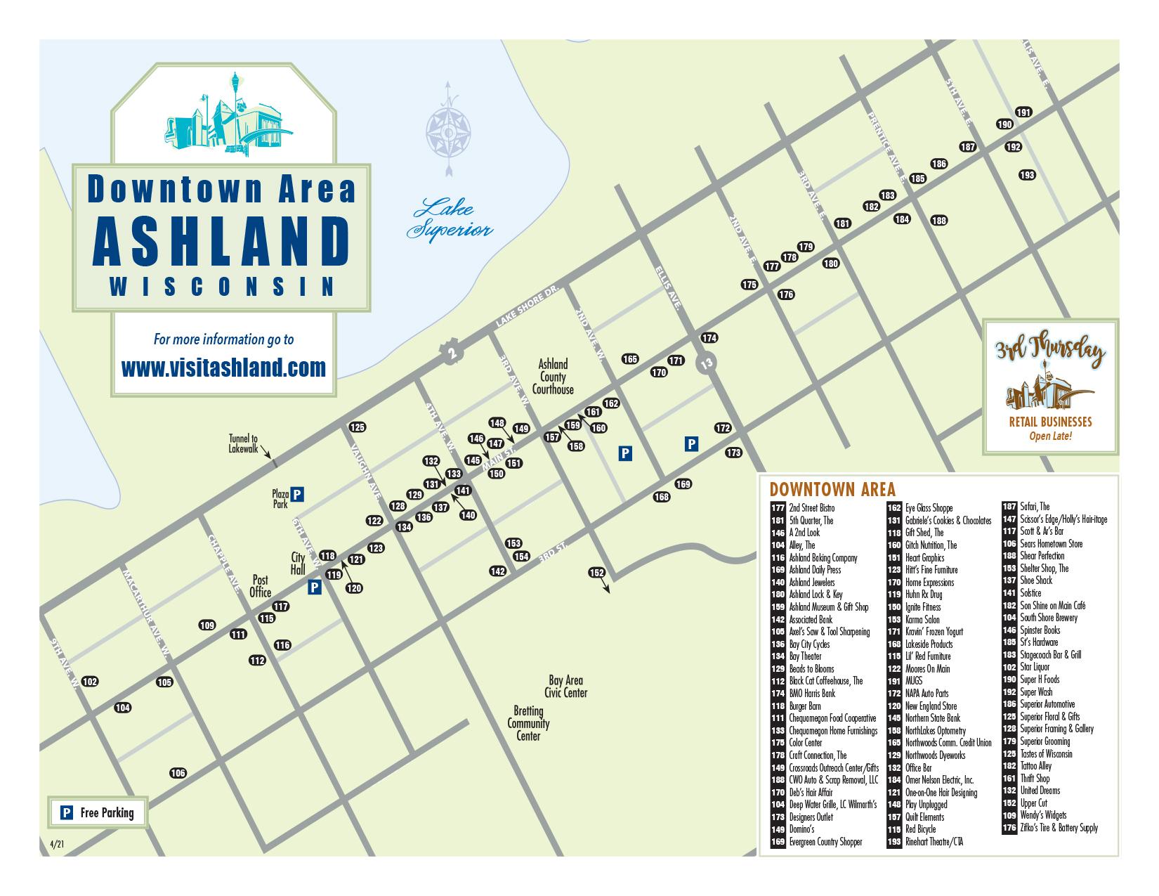 Downtown Shopping Map