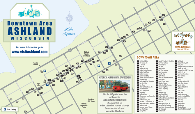 Downtown Shopping Map