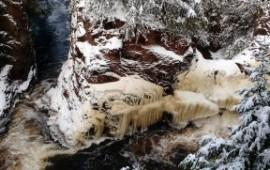 Winter At Copper Falls State Park Visitashlandvisitashland